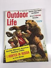 """Outdoor Life Magazine February 1960-""""I Hunted In Russia""""; Stopping Grizzlies"""