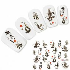 Nagel Sticker Nail Art Tattoo Japan Oriental Landschaft Aufkleber NEU!