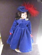 """Franklin Mint 1993 Gone With The Wind BONNIE BLUE  Porcelain Doll 12"""""""
