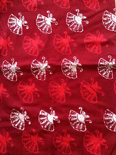 ♥ Kain Sarung 100% Mercerized Cotton - Red Fans (Siap Jahit)