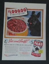 Original 1941 Print Ad PARD DOG FOOD Scottie Dog Contest See and Sniff