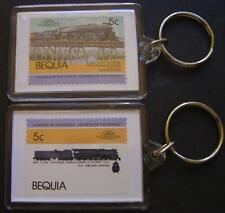 1944 ATSF Santa Fe Class 2900 4-8-4 Train Stamp Keyring (Loco 100)