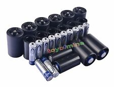 16x AA Rechargeable Battery + 8x C Size + 8x D Size Battery Adapter Convert