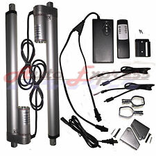 "2 Linear Actuators 12"" inch Stroke 12V 110V Power Supply With Remote Bracket Set"