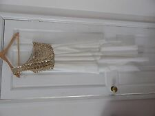 ✨ Beautiful Asos Party / Prom Dress Gold & White Size UK 10 New With Tags