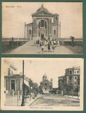 Lazio. OSTIA MARE, Roma. Due cartoline d'epoca viaggiate nel 1932 e 1933..