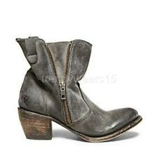 FAST SHIP! BNWB FREEBIRD BY STEVEN SOUTH GREY DISTRESSED LEATHER ANKLE BOOT US 7