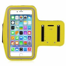 "iPhone 6 4.7"" Yellow Premium Sports Armband Cover Case Running Gym Workout"
