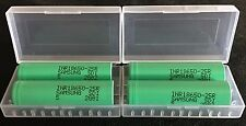 """Brand New """"4"""" Samsung 25R 2500mAh 18650 HIGH DRAIN 20A Rechargeable Battery"""