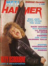 METAL HAMMER 2 1989 Ozzy Osbourne Kai Hansen Iron Maiden Gary Moore Bon Jovi