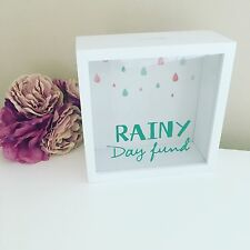 Rainy Day fund Money Box fund Coin Bank Savings Brand New Boxed Gift