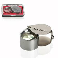 Jeweler Eye Loupe Magnifier 20x Folding Diamond Magnifying Glass Loop 20x21mm