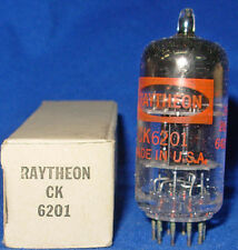 NOS / NIB Raytheon 6201 / 12AT7WA Triple Mica Black Plate Twin Triode Tube