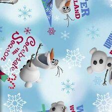 Cuarto gordo Disney congelados de la OLAF Winter Wonderland 100% Algodón, Colchas de retazos de tela