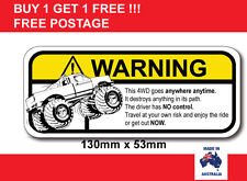 4WD Funny safety joke warning sticker popular car sticker