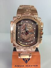 Men Aqua Master Jojo  Joe Rodeo Rose Jesus Face genuine  Diamond Watch w#323
