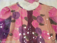 JUDY HORNBY COUTURE~ PINK PURPLE~SEQUINS SILK CHIFFON COCKTAIL WEDDING DRESS
