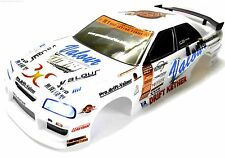 12330-W 1/10 Scale Drift Touring Car Body Cover Shell RC White Cut w Lights