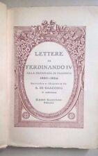LETTERE DI FERDINANDO IV ALLA DUCHESSA DI FLORIDIA 1820-1824 SANDRON ANNI '20