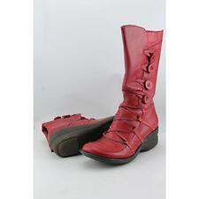 Miz Mooz Olsen Women US 8 Red Mid Calf Boot Pre Owned  1910