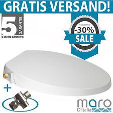 Maro D'Italia FP106 (rund/lang)-Dusch-WC Aufsatz, Stromlos - Messing gewinde