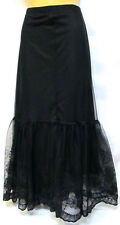 plus sz M / 18 - 20 TS TAKING SHAPE Miranda Embroidered Skirt black stretch NWT!