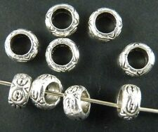 400pcs Tibetan Silver Bail Style Spacer Beads 7x3.5mm 8421
