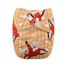 AlvaBaby Reusable Onesize Washable Cloth Diaper Nappy +1Insert Foxes print