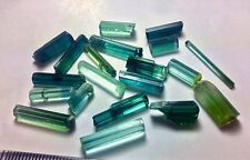60 cts Top Quality 60% Clean Indicolite & Paraiba Color Tourmaline Crystals