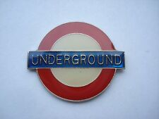 LONDON UNDERGROUND TUBE STATION SIGN TRAIN RAILWAY VINTAGE RARE PIN BADGE SALE