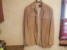 Mens Designer wear Cole Haan Country Brown Suede Jacket Large