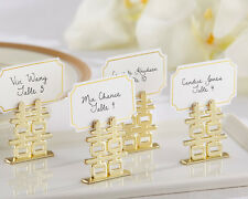 144 Double Happiness Bridal Shower Wedding Place Card Holders Favors