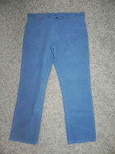 JCP JC PENNEY BLUE CORDUROY FLAT FRONT PANTS MENS 32 X 30 NWT