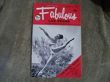 Fabulous Las Vegas Magazine Elvis Teresa Brewer J. Douguet Abbe Lane 8/26/1972