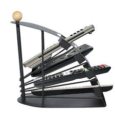 TV Remote Controller Holder Black Steel Organizer Universal Storage Rack Stand