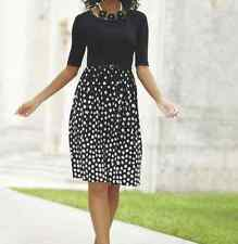 Monroe and Main  Audrey Polka Dot Belted Dress NEW size Small (6)