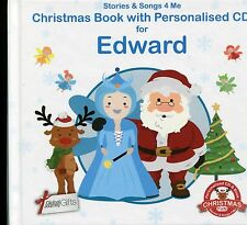 CHRISTMAS BOOK WITH PERSONALISED CD FOR EDWARD - STORIES & SONGS 4 ME