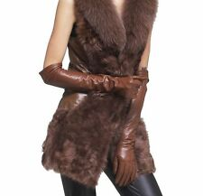 60CM(23.5 inches) 100% REAL SHEEPSKIN LEATHER LONG OPERA / EVENING GLOVES