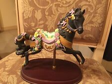 LENOX CAROUSEL HORSE - MIDNIGHT CHARGER - 1993 - RETIRED