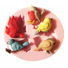 3D Bird Silicone Fondant Mould Cake Decorating Chocolate Baking Sugar Icing Mold