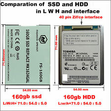 NEW 160GB SSD Replace  Drive Disk TOSHIBA MK1634GAL ZIF for iPod Classic 7th Gen