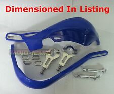 HEAVY DUTY HAND GUARDS METAL REINFORCED BLUE ENDURO MX MOTORCYCLE Universal Fit