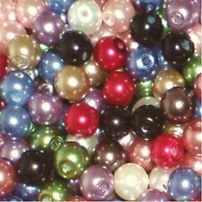200 pieces 6mm Glass Pearl Beads - Assorted Mixed - A0978-A