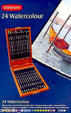 Derwent Watercolour Pencils 24 Wooden Box Derwent Water Colour Pencils
