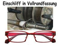 Einschleifen der Brillengläser in Vollrand-Fassung