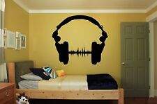 Wall Room Decor Art Vinyl Sticker Mural Decal Music EDM Headphones DJ FI078