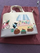 Radley 'Market Day' Leather Signature / Picture Bag & Coin Purse -  NEW
