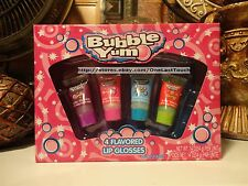 LOTTA LUV 4pc Gift Set/ Lot BUBBLE YUM Squeezy Tube Lip Gloss Great Gift!! NEW!