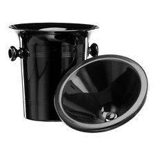 Black Plastic Wine Spittoon - Standard Size 2L with Black Funnel
