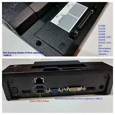Dell E-Port Docking Station Port Replicator USB 3.0 E6420 E6520 E6530 E6430